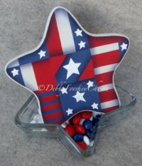 Patriotic Star Candy Dish
