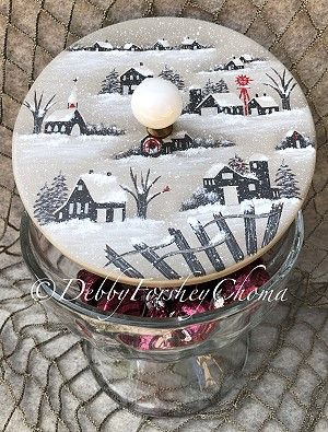 Winter Candy Dish