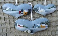 Winter Hearts Ornament Set